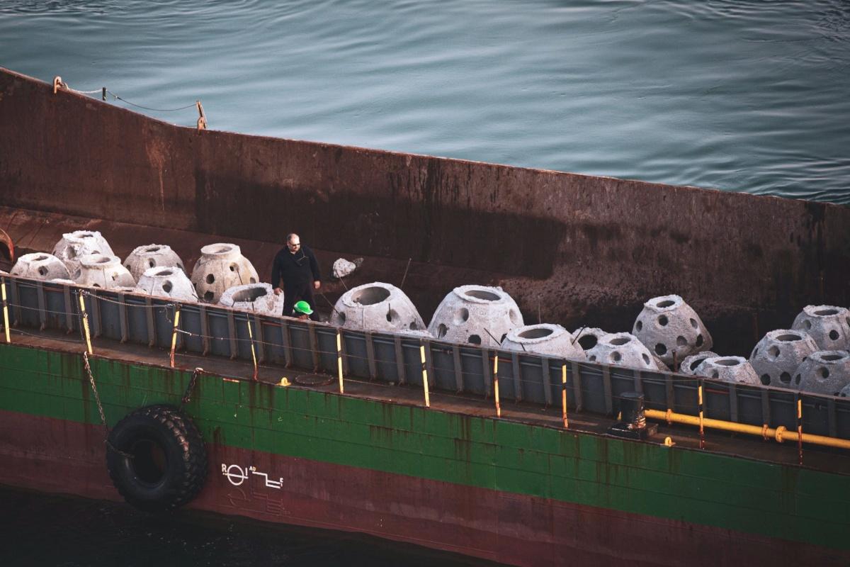 Astice Europeo - Reef Ball - Campane di cemento pronte ad essere posizionate sul fondo marino
